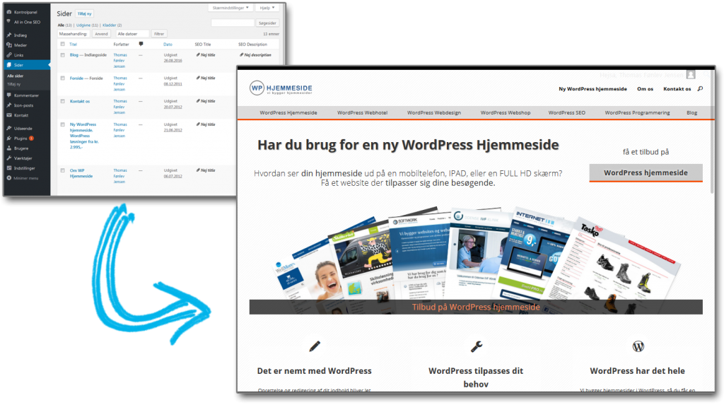 Wordpress makes it easy to build your website