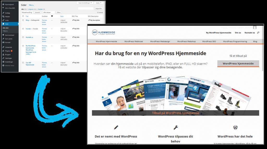 Wordpress gør det nemt at bygge din hjemmeside